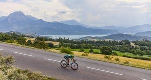 Le cycliste Yukiya Arashiro Photographie stock libre de droits