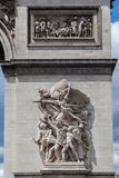 The Triumph Arch Paris Stock Photo