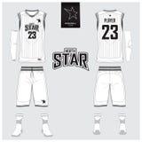 Le débardeur de basket-ball, shorts, cogne le calibre pour le club de basket-ball Illustration Stock