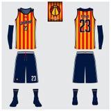 Le débardeur de basket-ball, shorts, cogne le calibre pour le club de basket-ball Illustration Libre de Droits