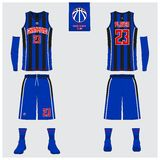 Le débardeur de basket-ball, shorts, cogne le calibre pour le club de basket-ball Uniforme avant et arrière de sport de vue Moque Illustration de Vecteur
