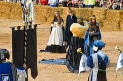 Le début de la truffe juste dans alba (Cuneo), a été tenu pendant plus de 50 années, la course d'âne Image libre de droits