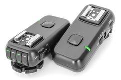 Le déclencheur sans fil à distance de radio de contrôle a placé pour la lumière d'instantané de studio Photographie stock