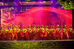 Le découpage et la domestique--La magie magique historique de drame de chanson et de danse de style - Gan Po Images stock