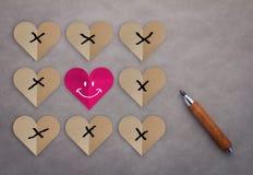 Le défi et l'amour gagne toujours le concept Image libre de droits