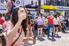 Le défilé 2015 de bulle Photo libre de droits