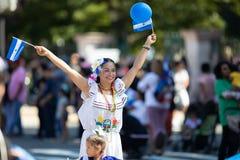 Le défilé de C.C de fiesta image libre de droits