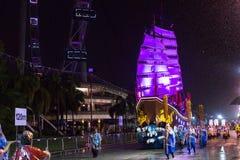 Le défilé de Chingay est tenu pendant la nouvelle année chinoise Image libre de droits