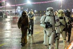 Le défilé de Chingay est tenu pendant la nouvelle année chinoise Images libres de droits