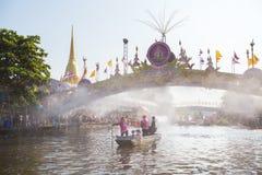 Le défilé de Chuck Bua Festival est une tradition des personnes locales dans Samutprakan images libres de droits