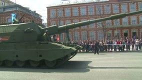 Le défilé de l'équipement militaire à Moscou, Russie banque de vidéos