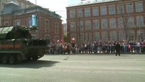 Le défilé de l'équipement militaire à Moscou, Russie clips vidéos