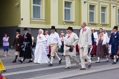 Le défilé de la célébration 2011 de chanson et de danse Image libre de droits
