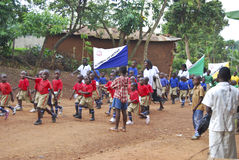 Le défilé des enfants de l'Ouganda Photographie stock