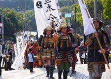 Le défilé des guerriers samouraïs, Japon image libre de droits