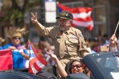 Le défilé des personnes portoricaines photo stock