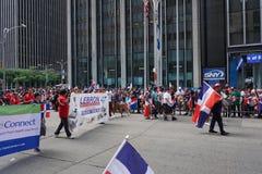 Le défilé dominicain 52 de jour de 2015 NYC Image libre de droits