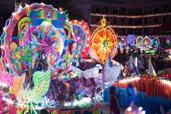 Le défilé du festival d'étoile de Noël en Thaïlande Photo libre de droits
