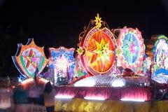 Le défilé du festival d'étoile de Noël en Thaïlande Photo stock