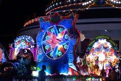 Le défilé du festival d'étoile de Noël en Thaïlande Images stock