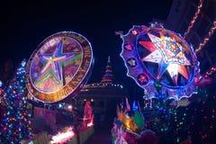 Le défilé du festival d'étoile de Noël en Thaïlande Photos libres de droits
