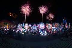Le défilé du festival d'étoile de Noël en Thaïlande Image libre de droits