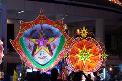 Le défilé du festival d'étoile de Noël en Thaïlande Image stock