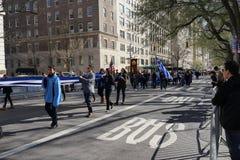 Le défilé grec 4 de Jour de la Déclaration d'Indépendance de 2016 NYC images libres de droits