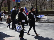 Le défilé grec 12 de Jour de la Déclaration d'Indépendance de 2016 NYC images libres de droits
