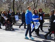 Le défilé grec 13 de Jour de la Déclaration d'Indépendance de 2016 NYC photo stock