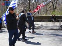 Le défilé grec 15 de Jour de la Déclaration d'Indépendance de 2016 NYC images stock
