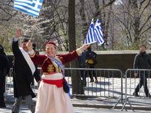 Le défilé grec 57 de Jour de la Déclaration d'Indépendance de 2016 NYC Images stock