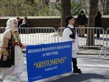 Le défilé grec 71 de Jour de la Déclaration d'Indépendance de 2016 NYC image stock
