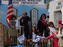 Le défilé grec 85 de Jour de la Déclaration d'Indépendance de 2016 NYC image stock