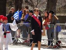 Le défilé grec 90 de Jour de la Déclaration d'Indépendance de 2016 NYC photo stock