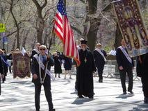 Le défilé grec 97 de Jour de la Déclaration d'Indépendance de 2016 NYC photo libre de droits