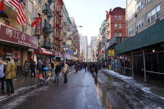 Le défilé lunaire chinois 173 de la nouvelle année 2015 Image libre de droits