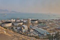 le dépôt d'huile chez Nam Wan HK Photos libres de droits