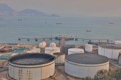le dépôt d'huile chez Nam Wan HK Photographie stock libre de droits