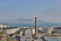 le dépôt d'huile chez Nam Wan HK Photo libre de droits