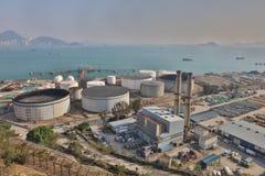 le dépôt d'huile chez Nam Wan HK Image libre de droits