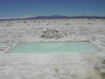 Le désert de sel de Salta Image libre de droits