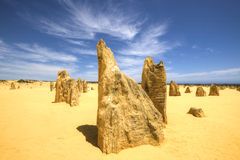 Le désert de sommets, parc national de Nambung, Australie occidentale Photo libre de droits