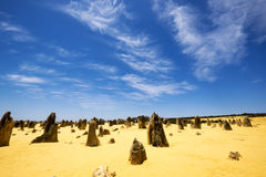 Le désert de sommets, parc national de Nambung, Australie occidentale Image stock