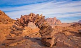 Le désert de Wadi Rum, Jordanie images stock