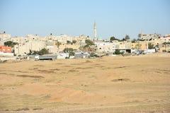 Le désert du Néguev, Israël Règlement bédouin d'Arara Image libre de droits