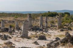 Le désert en pierre (kamani de Pobiti) près de Varna, Bulgarie Photos libres de droits