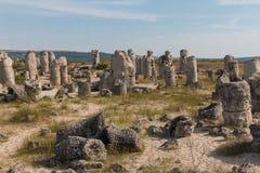 Le désert en pierre (kamani de Pobiti) près de Varna, Bulgarie Image libre de droits