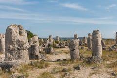 Le désert en pierre (kamani de Pobiti) près de Varna, Bulgarie Photo stock