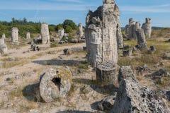 Le désert en pierre (kamani de Pobiti) près de Varna, Bulgarie Image stock